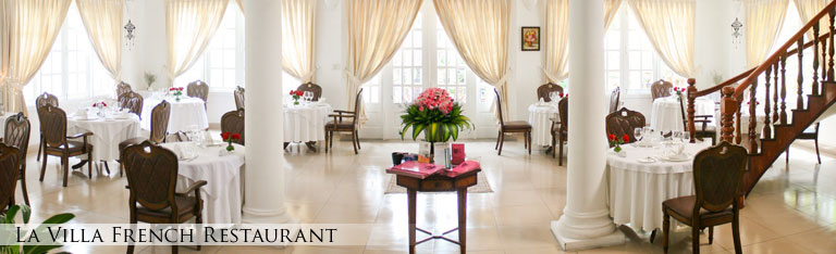 La Villa French Restaurant is located in a quiet street of Thao Dien and proposes a cozy dining room. La Villa has two venues which are inside and outside so you can also choose to dine in the cozy dining room or in the beautiful and romantic garden by the pool which is in the middle of several species of flowers.
